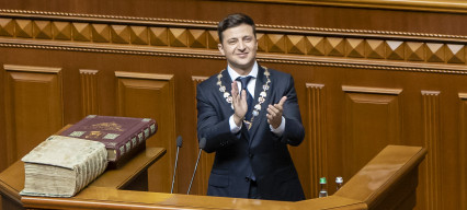 Ukraine sees historic win for Zelenskiy's party in parliamentary elections