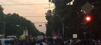 Protests underway in Armenia against President Sargsyan becoming PM