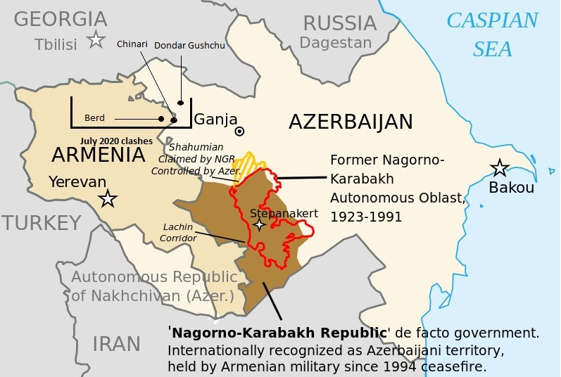 Escalation of the conflict between Armenia and Azerbaijan