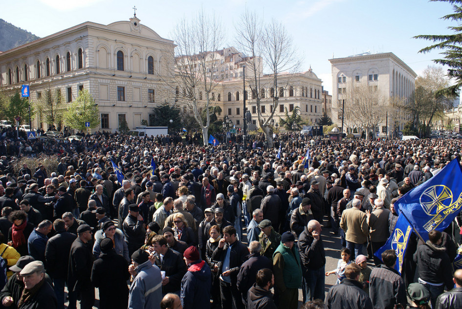 Georgian opposition refuses to enter parliament demanding new elections
